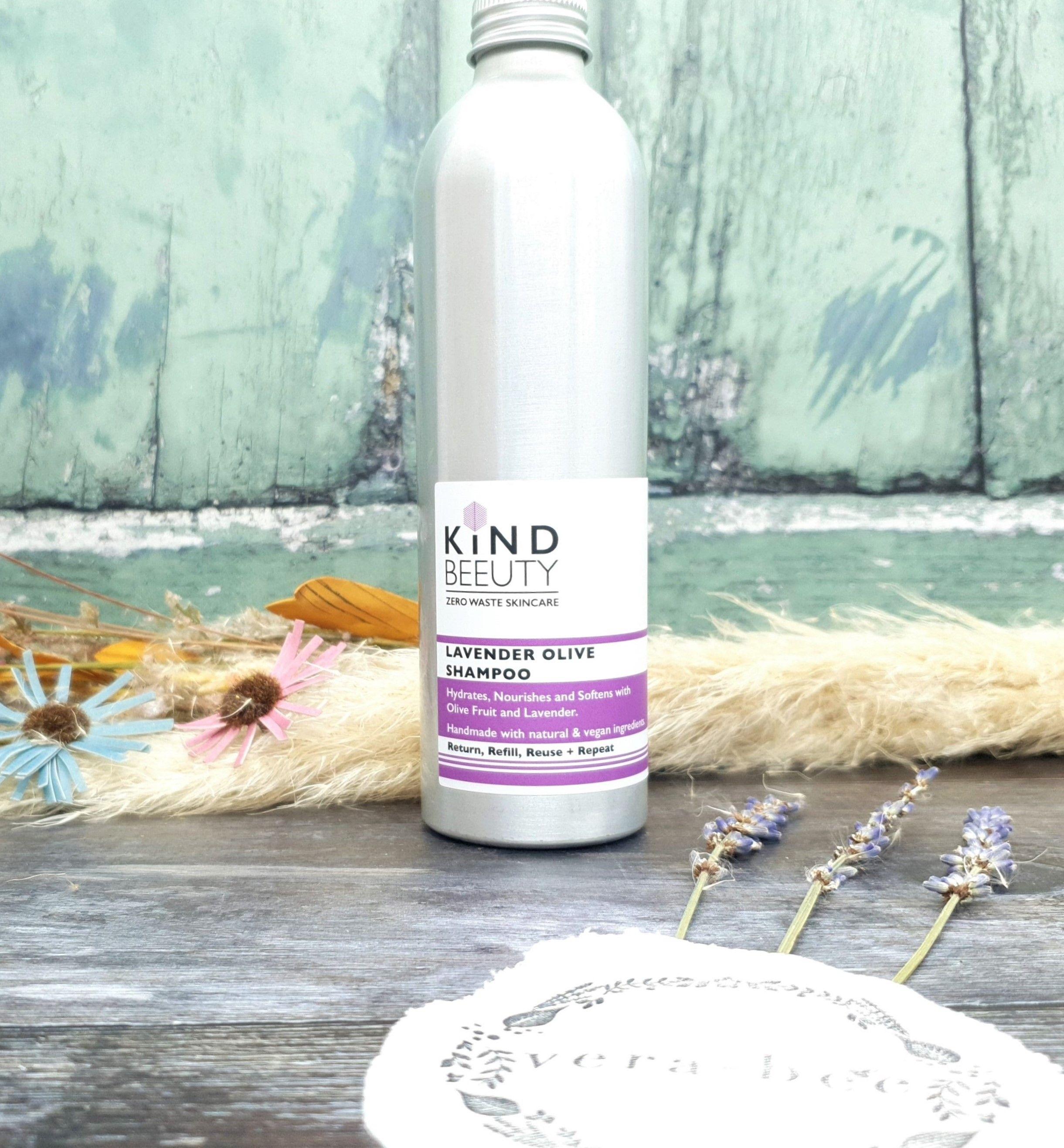 Lavender Olive Shampoo Natural Zero Waste Kind Beeuty