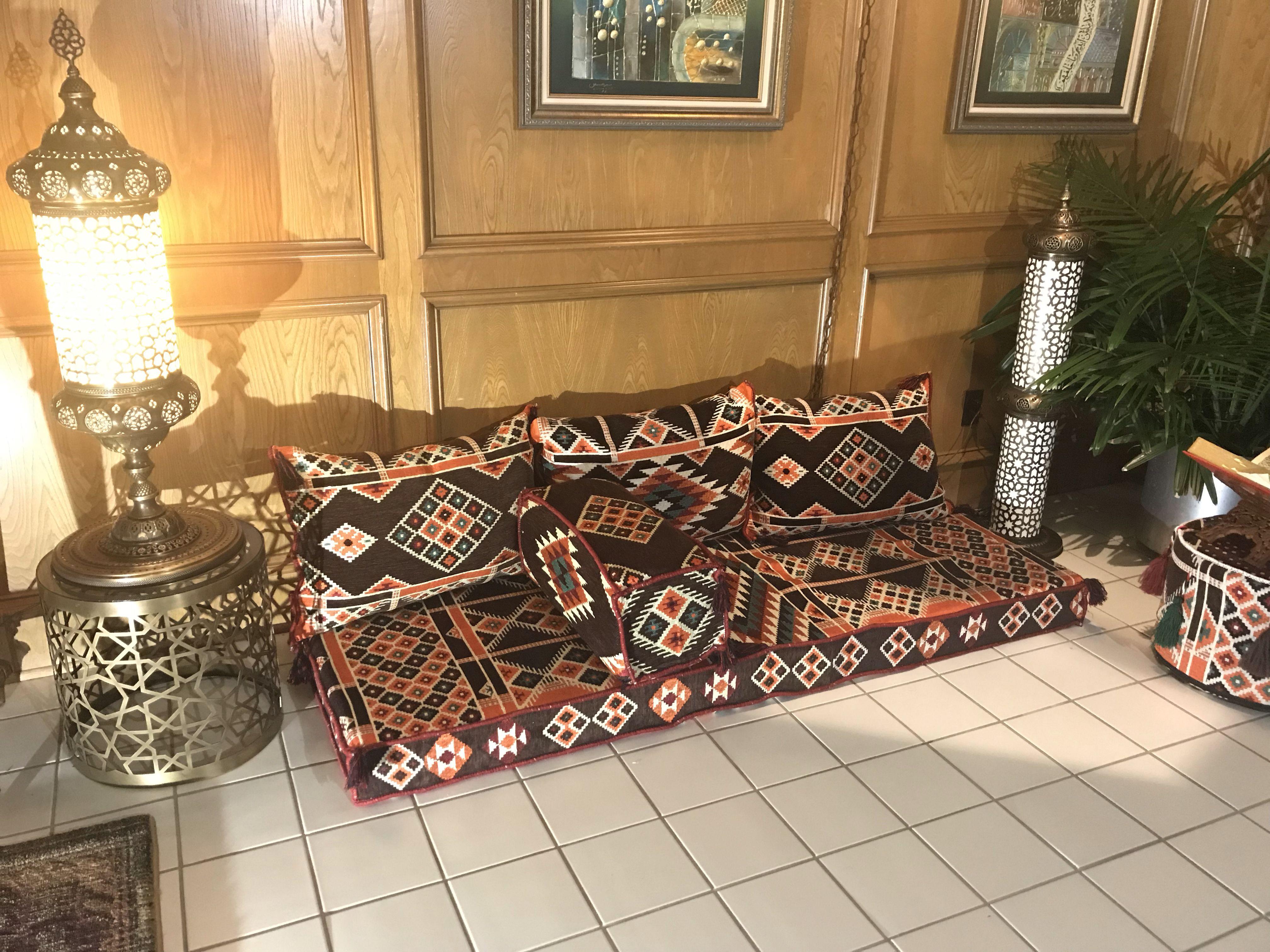 Orange Arabesque Jalsa جلسة عربية 350 Home Decor Decor Seating