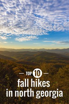 North Georgia's best fall hiking trails to autumn leaf color
