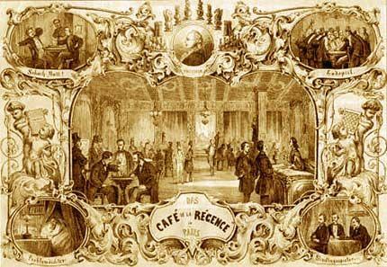 Ilustración sobre el Café de la Régence de París