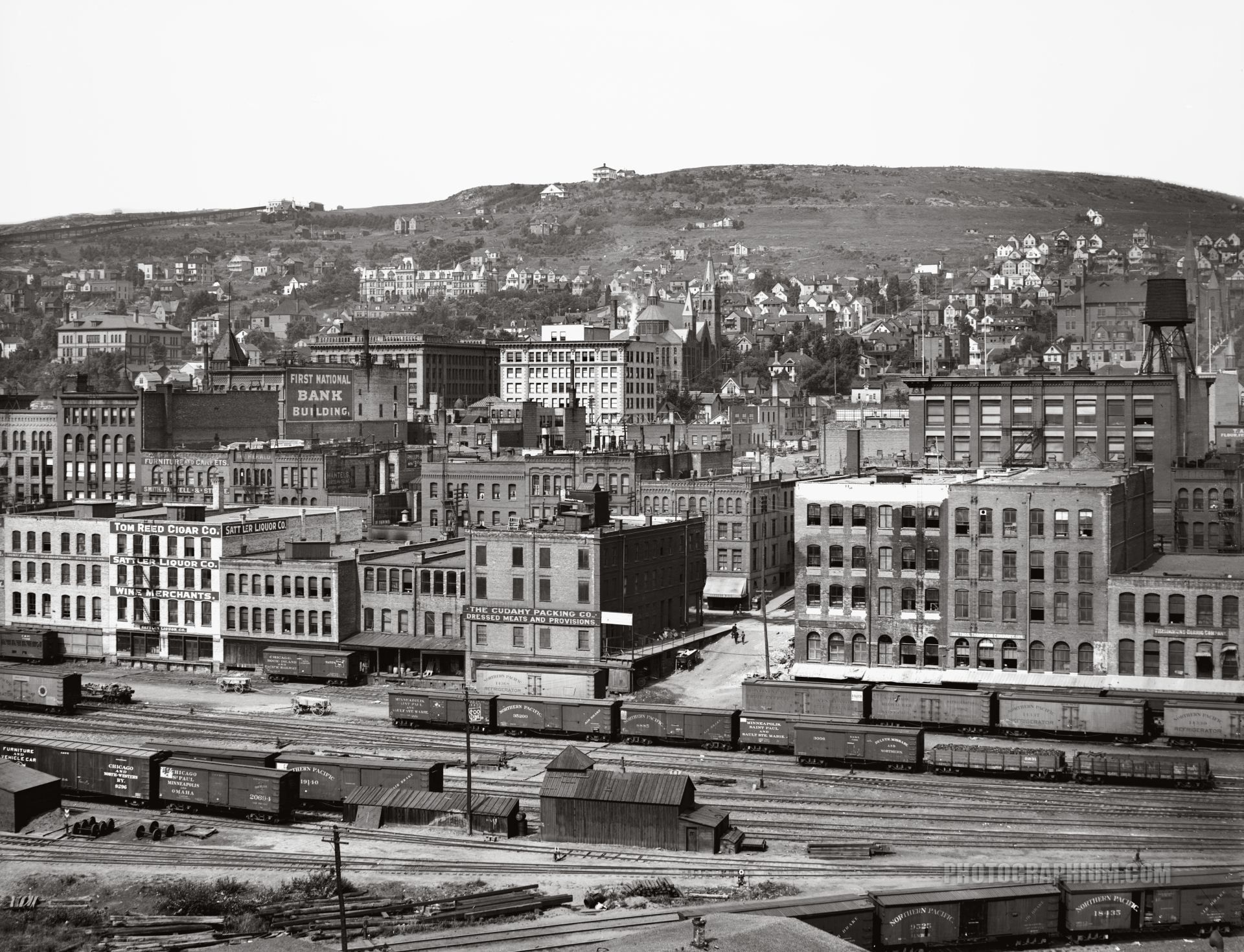 Minnesota Railroad Stations Left To Right Shot 03 Duluth Minnesota 1900 1906 Duluth Old Pictures Paris Skyline