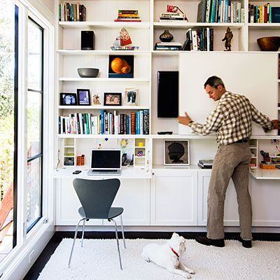 Ideas for a Green Home Remodel  The new family room also functions as a home office thanks to an ing
