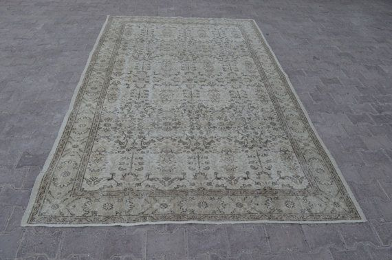 Overdyed Oushak Rug 9,4x5,9 Feet 287x182 Cm Vintage Home Decor Overdyed Rug Turkish Vintage Carpet Rug.