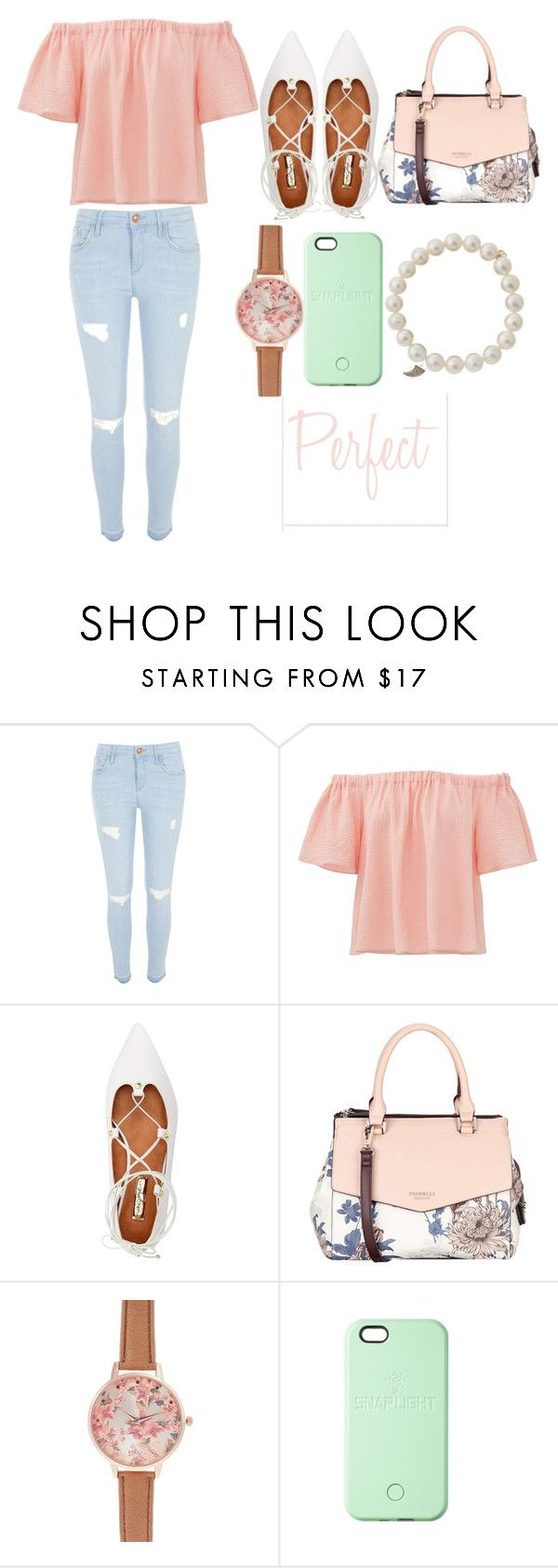 """Pastel"" by fashuneestuh ❤ liked on Polyvore featuring River Island, Rebecca Taylor, Halogen, Fiorelli, New Look, SnapLight and Sydney Evan"