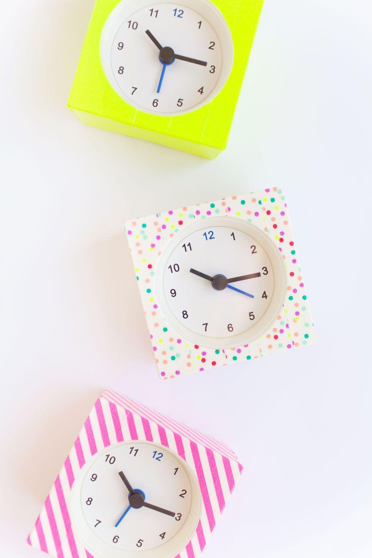 diy washi tape clocks   pinterest   uhren selber machen, selber