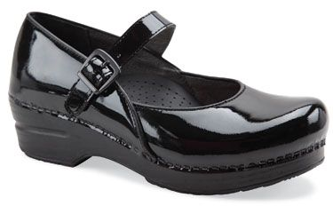Dansko nursing shoes, Black patent leather