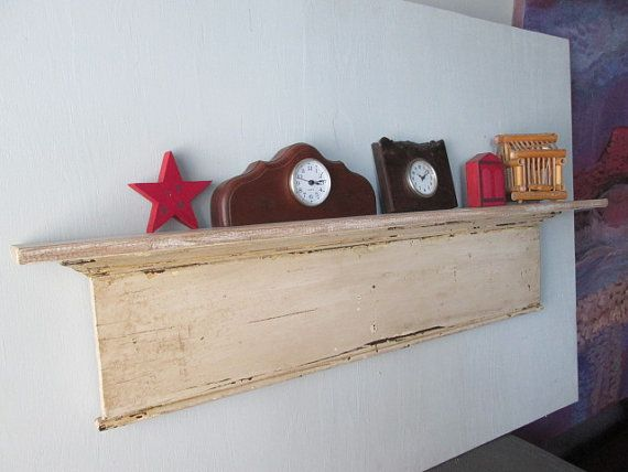 Credenza Con Piattaia Shabby : Shabby shelf wall small white