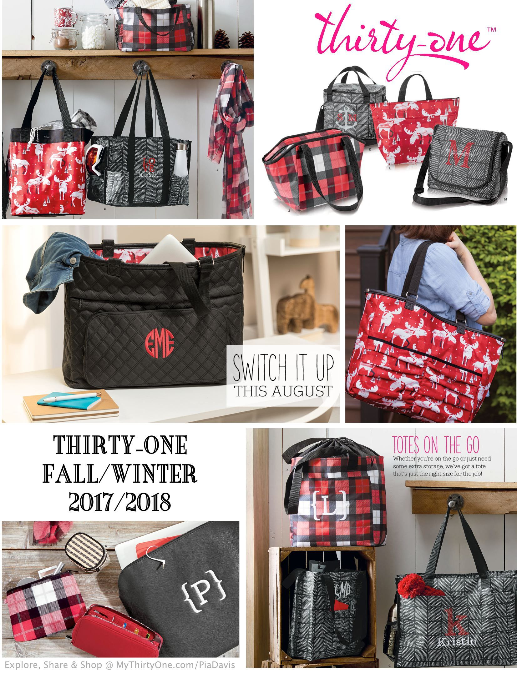 dd256842d562 LOVE the new Thirty-One prints for the 2017-2018 Fall-Winter season.  Moosin  Around   Chevron Squares are great additions to Charcoal Crosshatch    Check ...