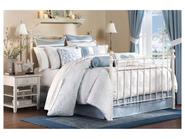 Home #Decor: #Furniture and #Decorators: The Harbor #House Crystal #Beach collection features an all over #quilted #comforter with #seashell #motifs. This makes it easy to match back to any room.