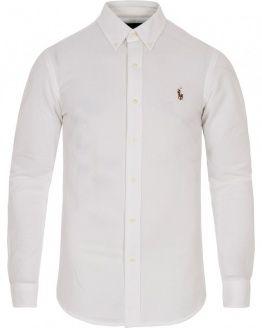 POLO RALPH LAUREN SLIM FIT KNIT OXFORD SHIRT WHITE | Shirts ...