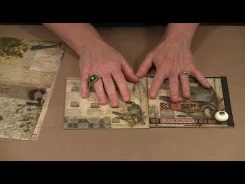 """Joggles - Creating A 6"""" x 6"""" Mini Album: Pages To Binding - YouTube 42:23; July 16, 2014  NTS: review the canvas binding she used"""