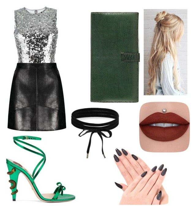 """""""slytherin formal"""" by theatrekid24601 ❤ liked on Polyvore featuring Dolce&Gabbana, Gucci, Hermès and Boohoo"""
