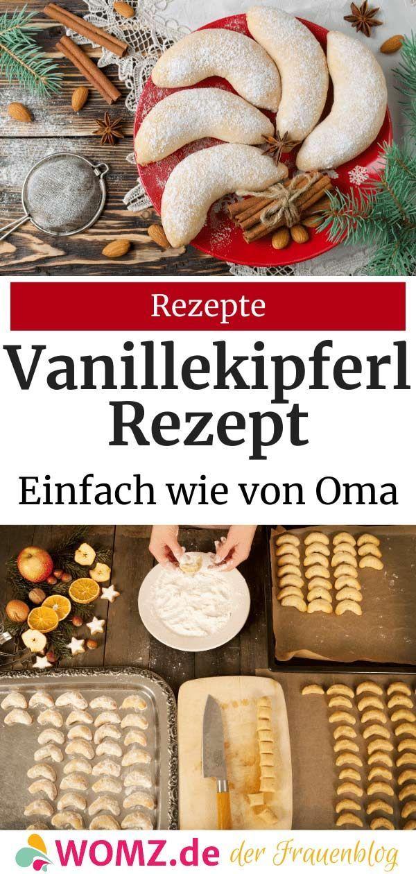 Einfaches Vanillekipferl Rezept: Original wie von Oma  WOMZ #vanillekipferlrezept