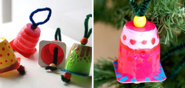 Adornos caseros para el rbol de navidad con envases de - Adornos de arbol de navidad caseros ...
