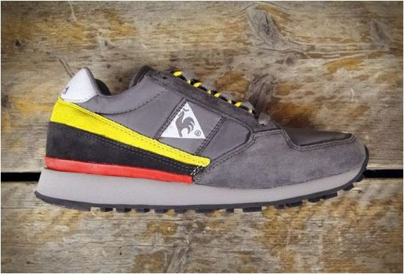 low priced 268d1 a415d Who remembers Le Coq Sportif  i m in love with this grey yellow coral  colorway  sneakers