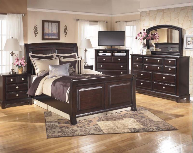Chavis Furniture Asaw Al Ridgley Dark Brown 2 Piece Bedroom Set