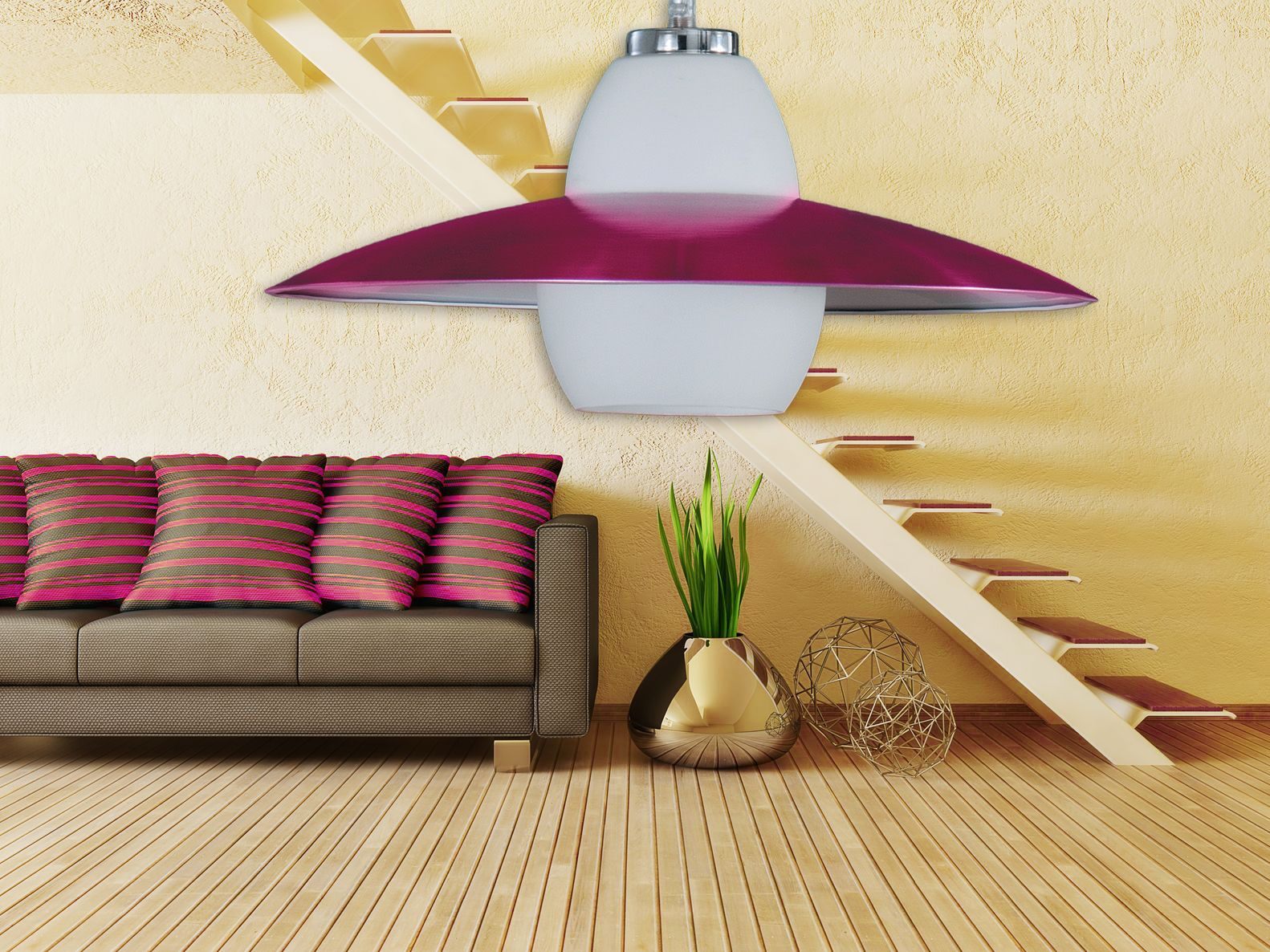 Stunning purple pendant colour your space with colourful light