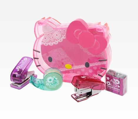 Hello Kitty Mini Desk Accessory Set: Spring Flowers