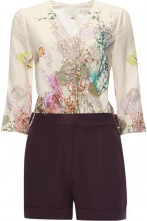 Dames jumpsuits - Ted Baker Playsuit Wispy Meadow met bloemenprint