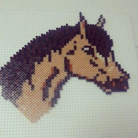 Horse hama beads by olaibombai