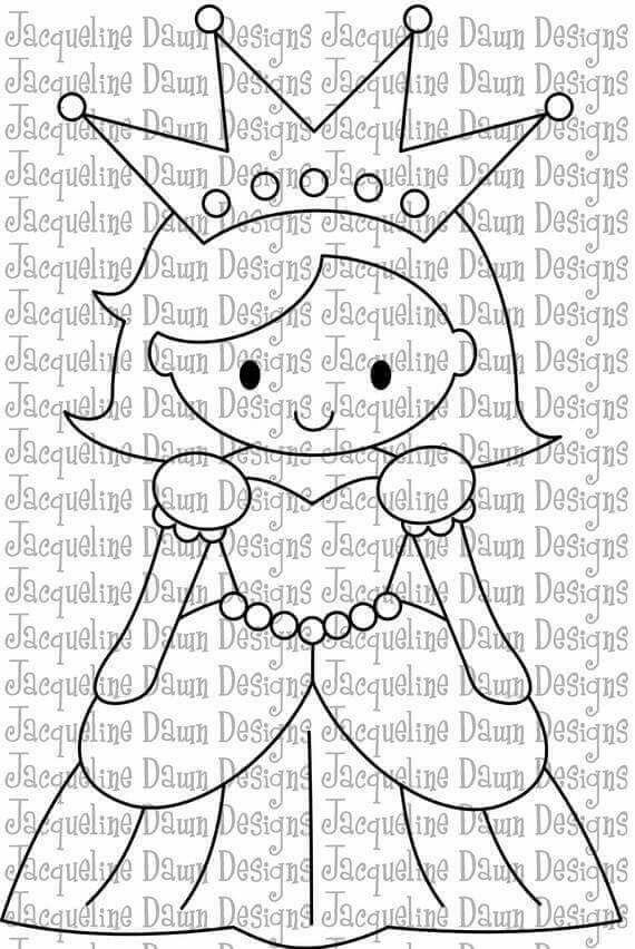 Prenses Kalip Desenler Boyama Sayfalari Kanavice