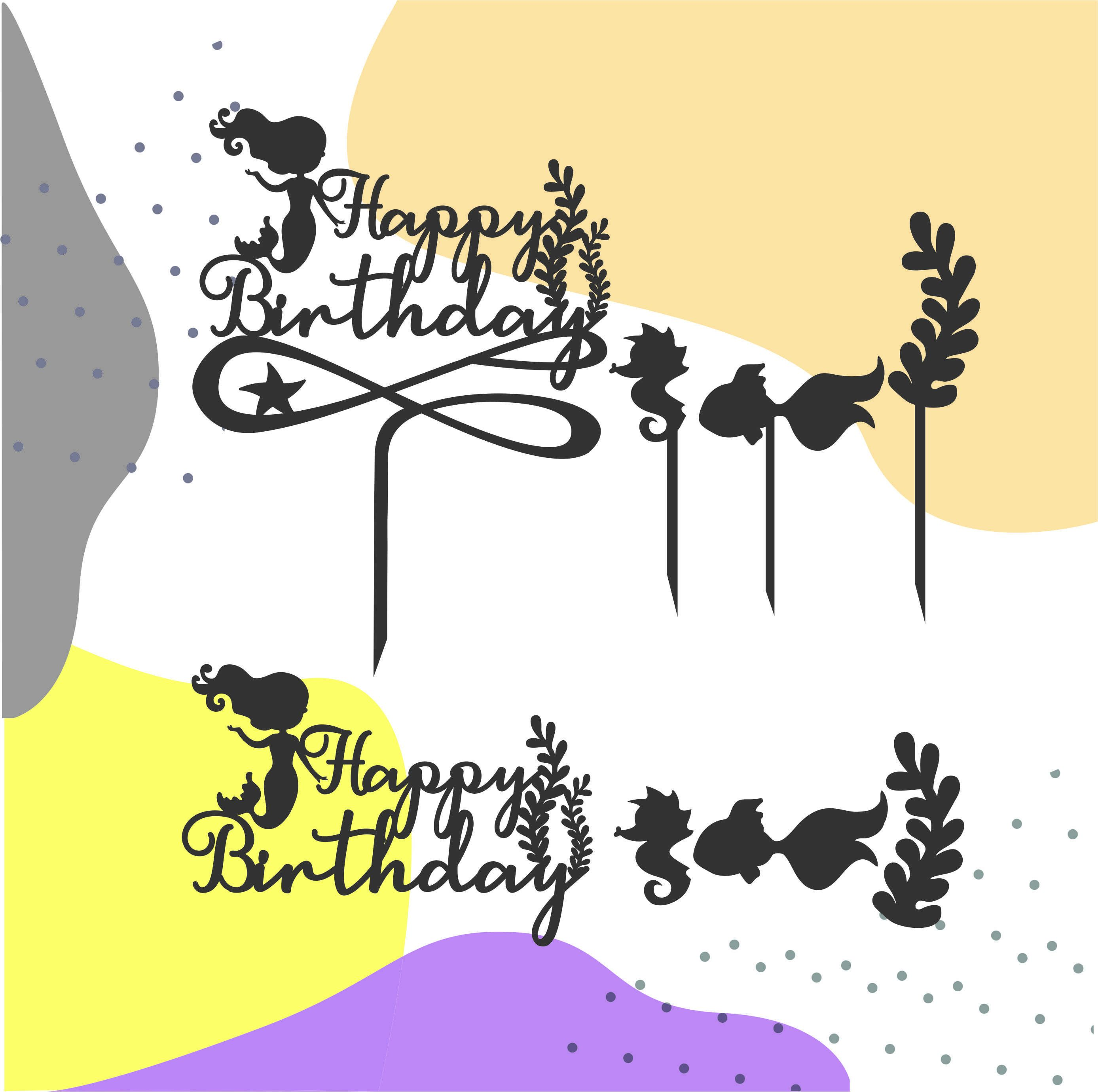 cake birthday party topper cut file cake topper birthday baby shower birthday decor cake decorations cake topper svg hb vector