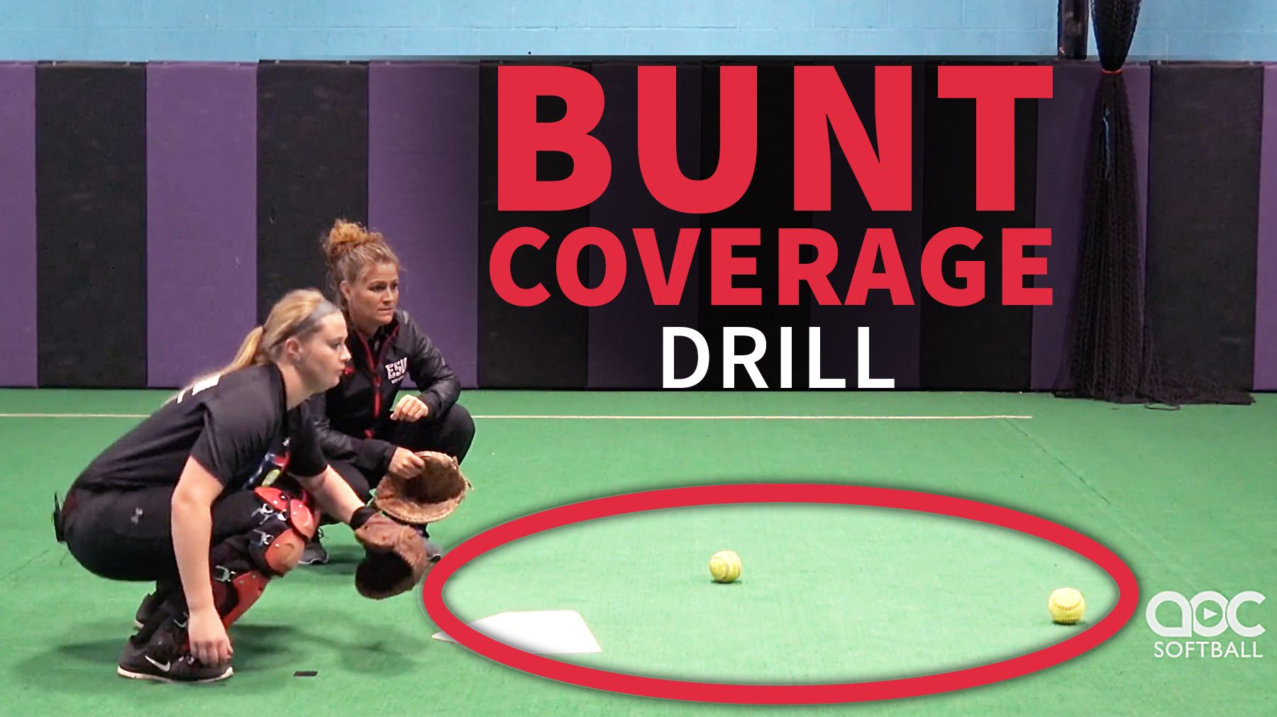 Catching: Bunt coverage drill