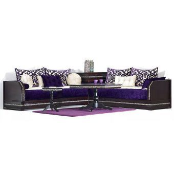 Salon Marocain Violet Et Blanc Avec Table Maroccan Style Home Decor Home