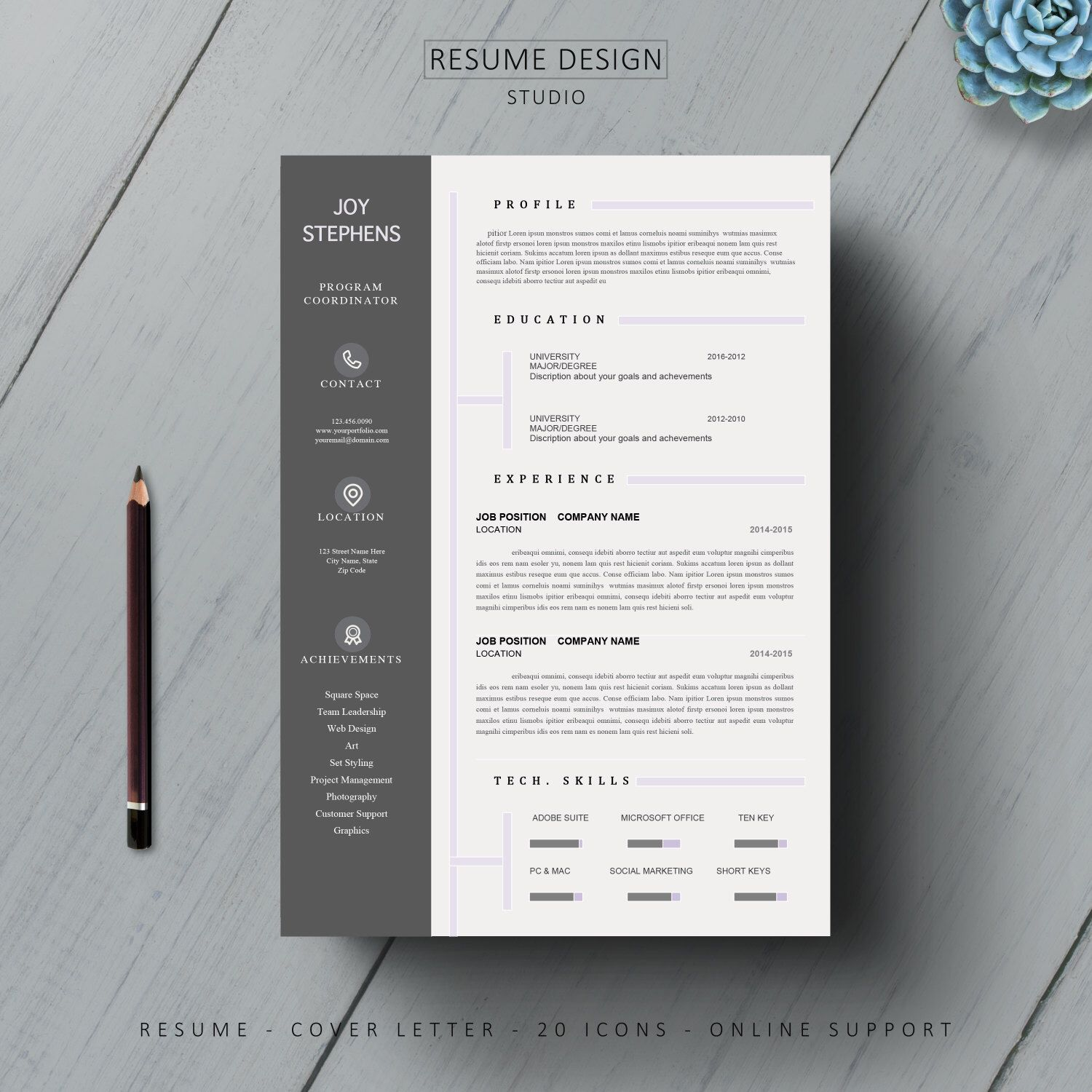 Ms Word For Sale Complete Resume Templatecover Letter Modern Tempate Bundleinstand .