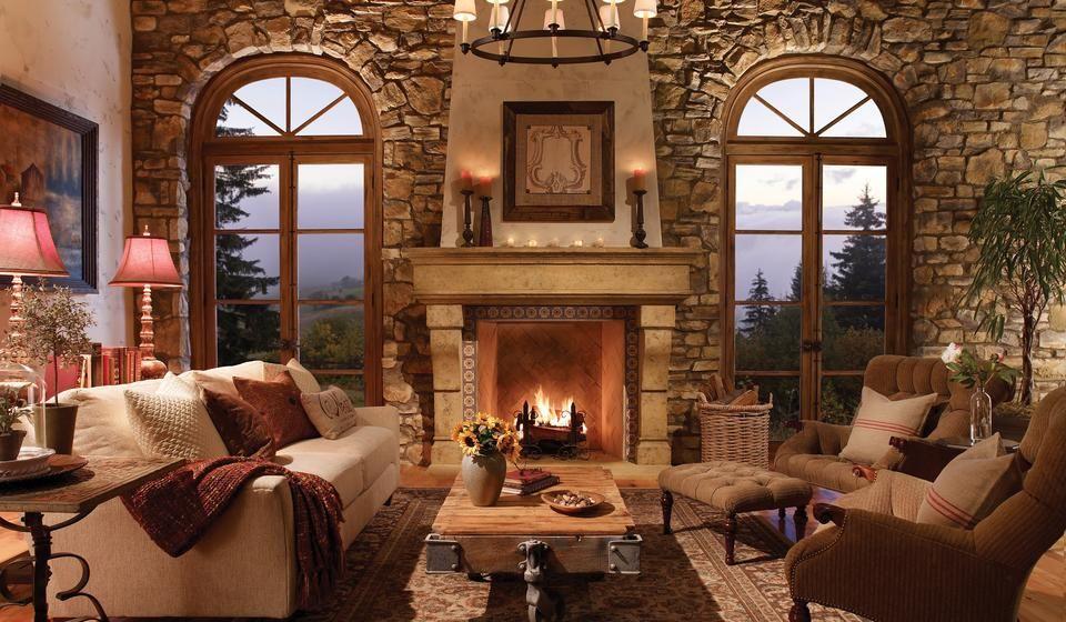Vintage Fireplace Decoration Interior Design Pinterest Stone