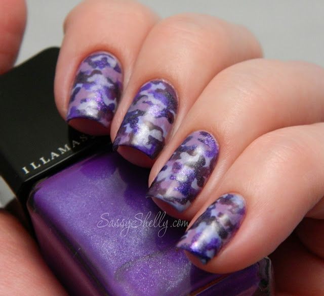 Purple Up For Military Kids Purple Camouflage Nail Art Nail Art