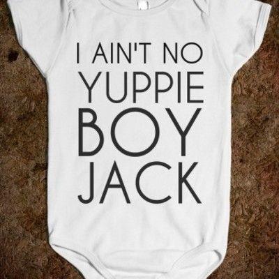 I ain't no yuppie boy jack onesie