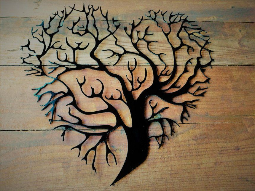 Rustic Metal Wall Decor Ideas Wooden Tree Decoration Shop