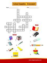 Fournitures scolaires Crossword