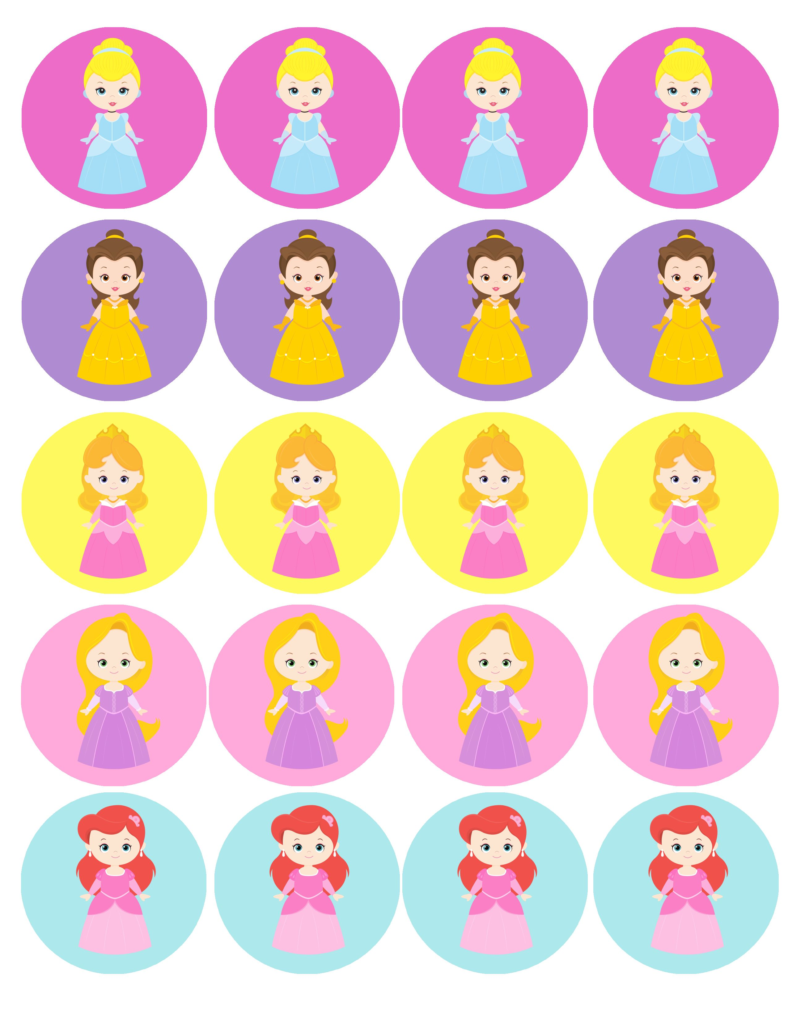 cupcake toppers for your princess party | Disney Princesses ...