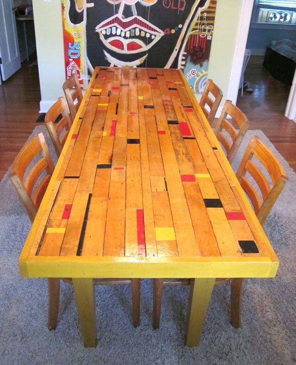 Captivating Interior Design, Decoration, Loft, Furniture, Reclaimed Gym/bowling Alley  Floor Table