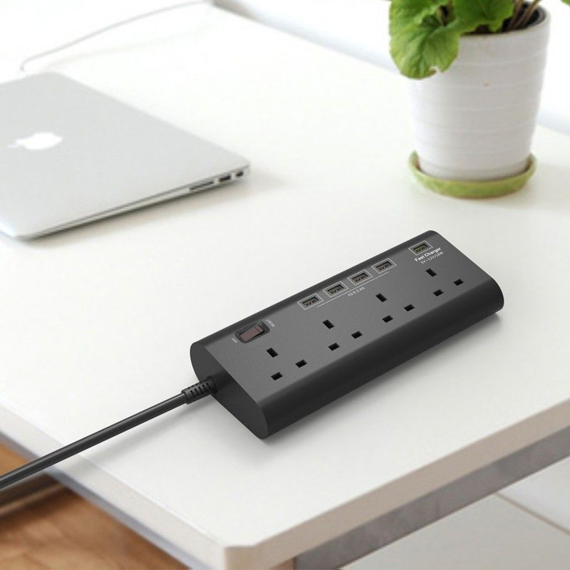 British plug type 4 way power outlet usb socket with quick charge ...
