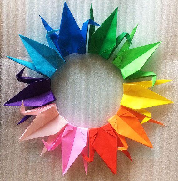 SPECIAL PRICE // 1000 6 MultiColor Origami by OrigamiLandDeco, $110.00