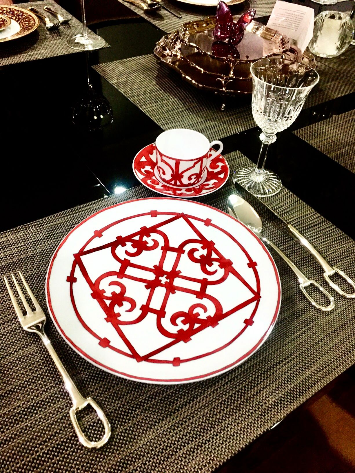 Hermes dinner plates Balcon Du Guadalquivir collection #