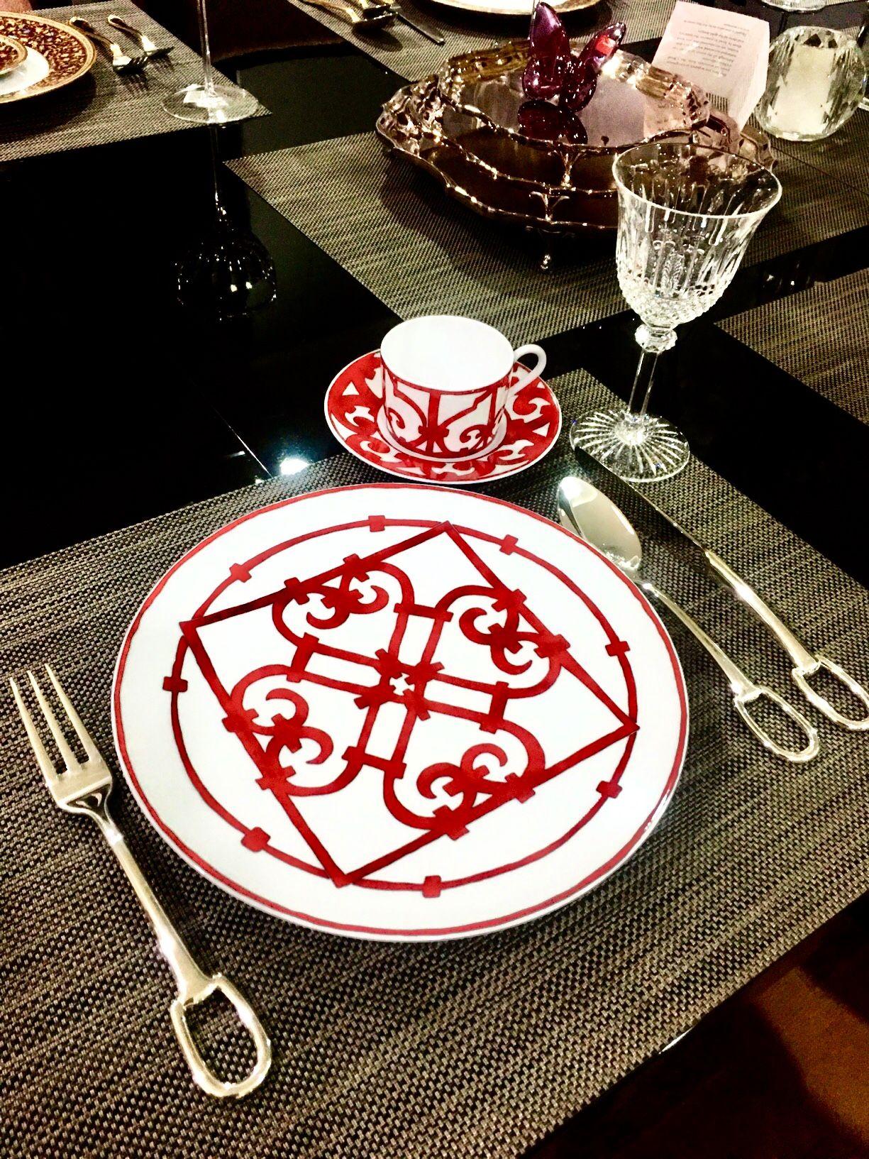 Hermes dinner plates Balcon Du Guadalquivir collection #
