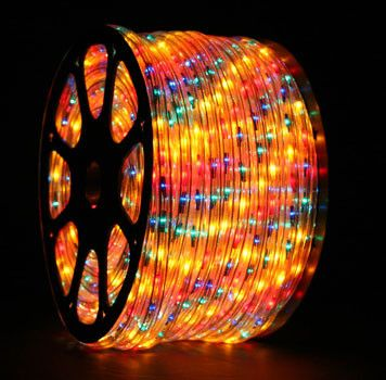 Rope Light 150 Multicolor Chasing Rope Light Commercial Spool 120 Volt Christmas Lights Etc Rope Light Led Christmas Lights Light