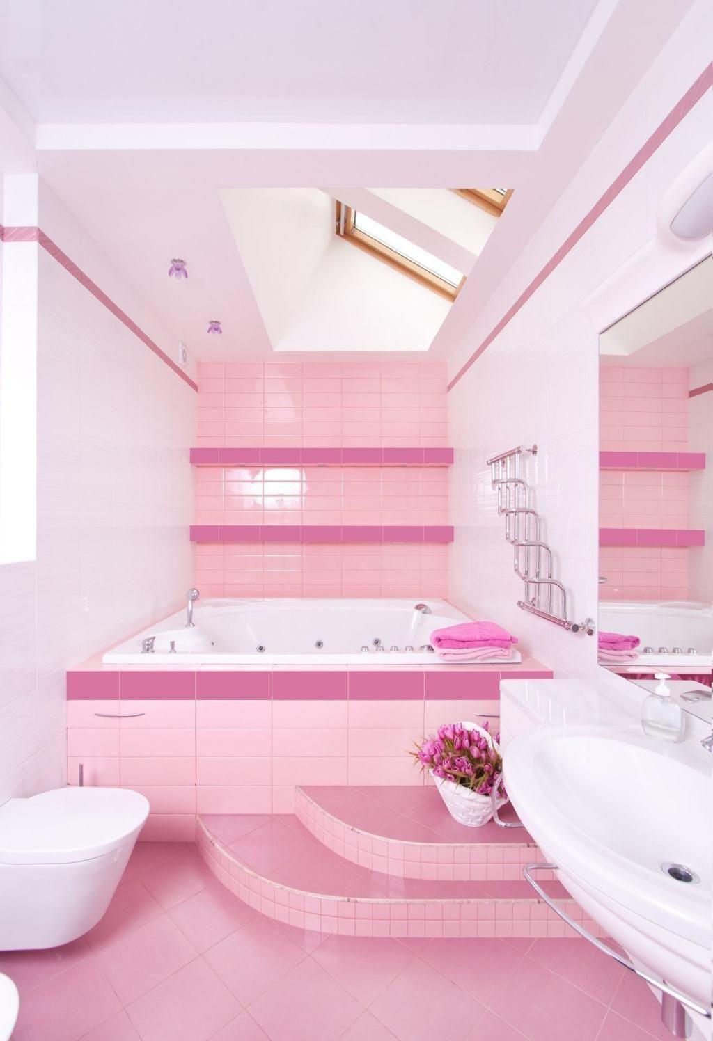 Rosa Badezimmer: 60+ Designs & Dekoration Fotos | Rosa ...