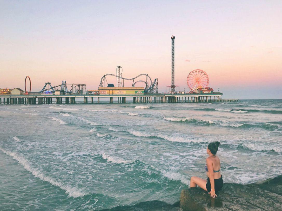 Pleasure Pier In Galveston Tx Ig Inanydirection Galveston Texas Beach Galveston Beach Galveston Texas Beach Texas Beaches