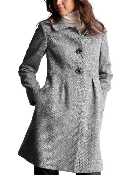 Women Womens Tweed pleated lady coat Coats Outerwear Gap ...