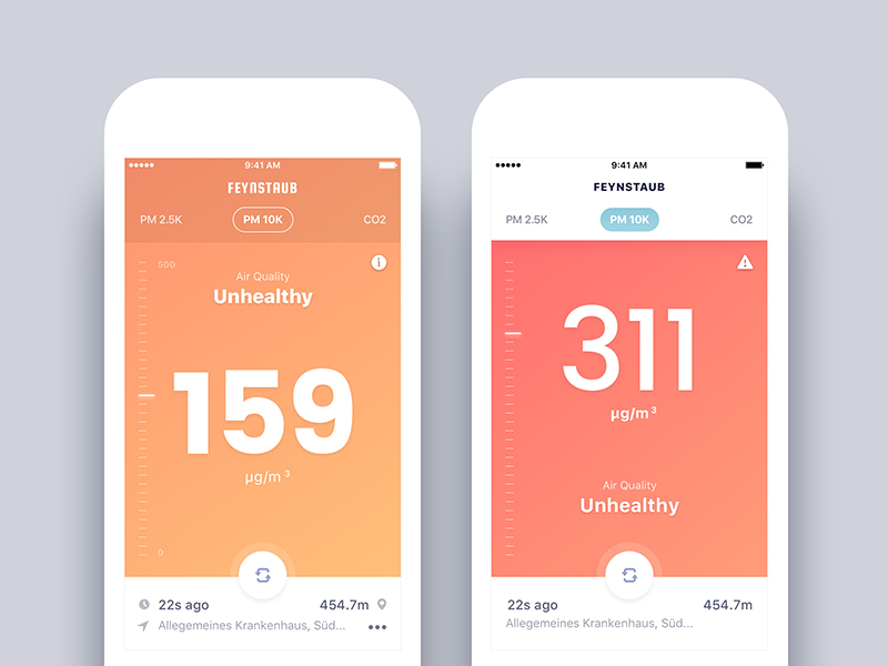 Air Quality Check App Final design and First version