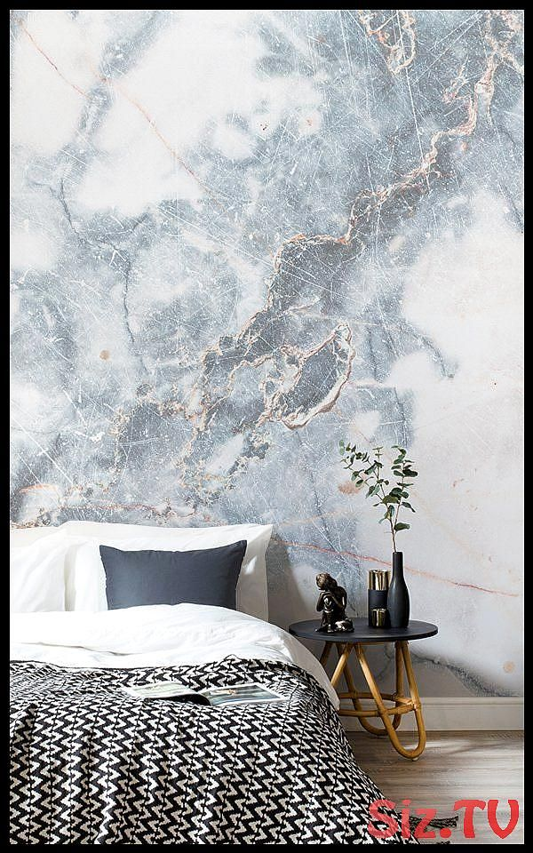 Deep Blue Clouded Marble Wall Mural Deep Blue Clouded Marble