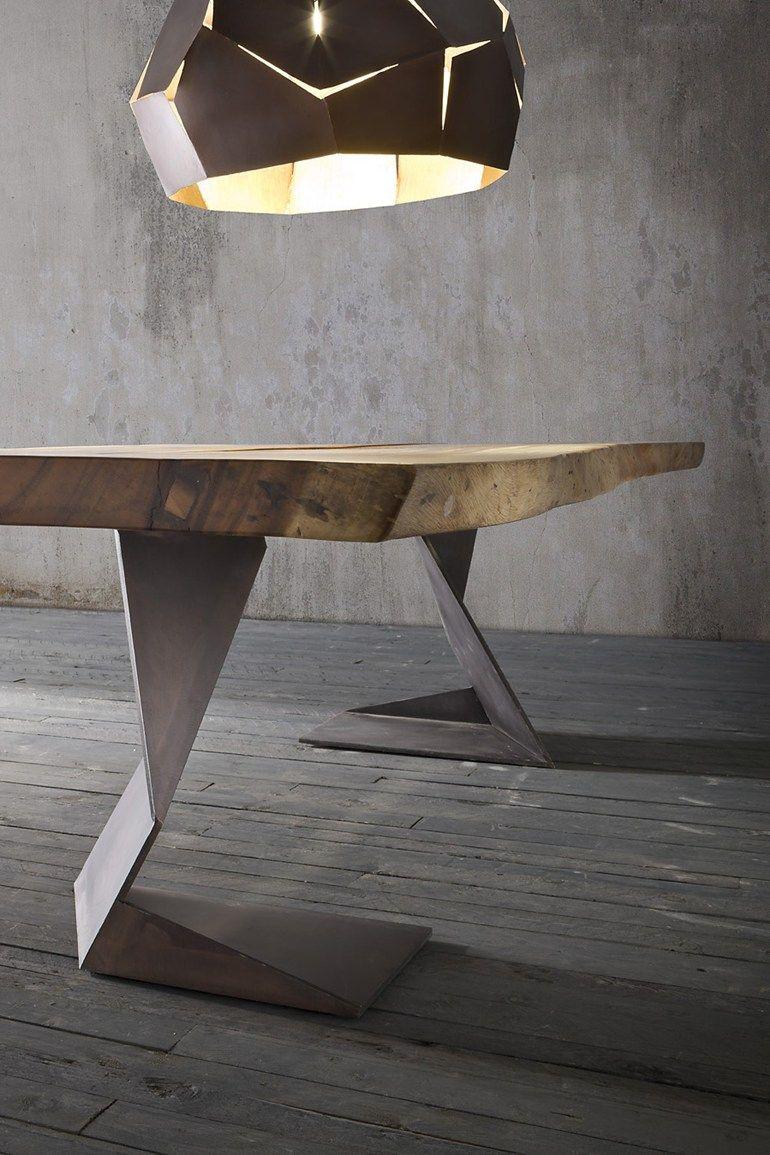 Tisch aus massivem Holz TROG by ELITE TO BE