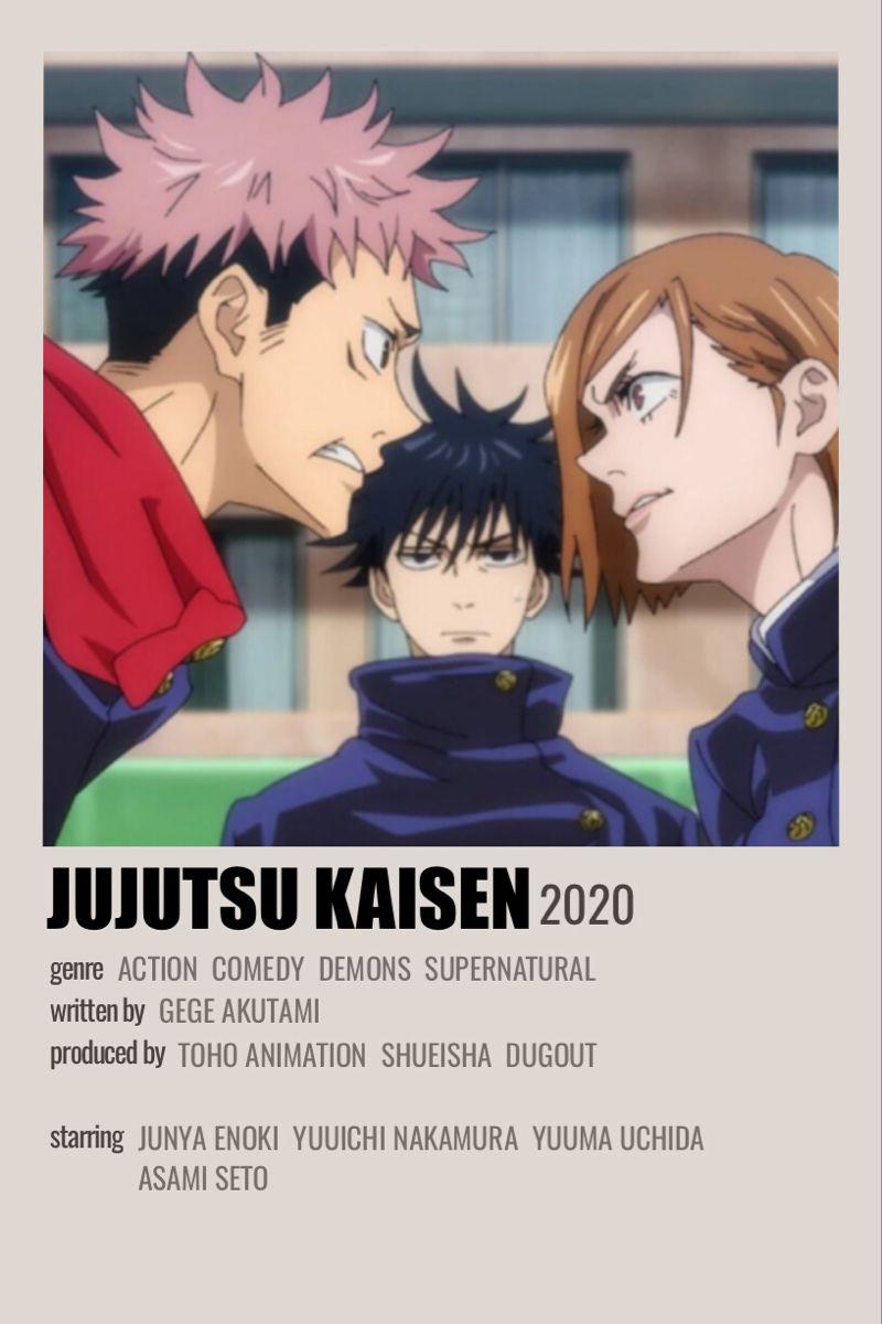 Jujutsu Kaisen Anime Titles Anime Canvas Film Posters Minimalist