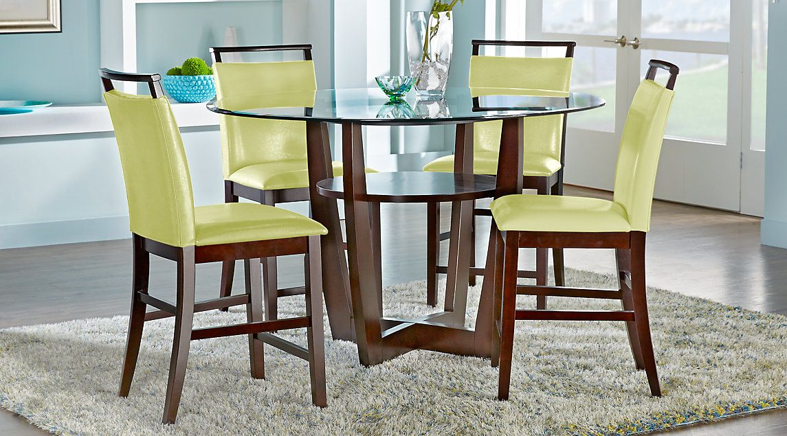 Ciara Espresso 5 Pc Counter Height Dining Set  Dinning Tables Fascinating Bargain Dining Room Sets Inspiration Design