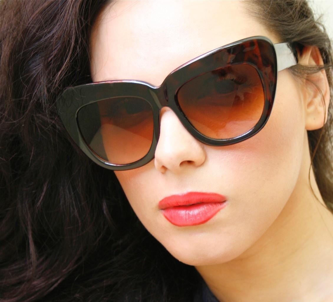 fee65d4adb Nicole 70 S Retro Vintage Oversized Huge Cat Eye Frame Women Xl Sunglasses